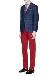 ISAIA'Sailor' check wool-silk-cashmere bouclé blazer