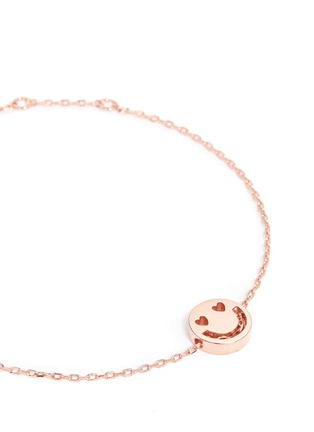 Detail View - Click To Enlarge - Ruifier - 'Smitten' 18k rose gold chain charm bracelet