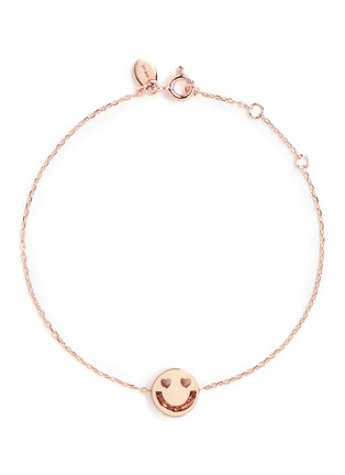 Main View - Click To Enlarge - Ruifier - 'Smitten' 18k rose gold chain charm bracelet