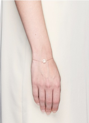 Figure View - Click To Enlarge - Ruifier - 'Smitten' 18k rose gold chain charm bracelet
