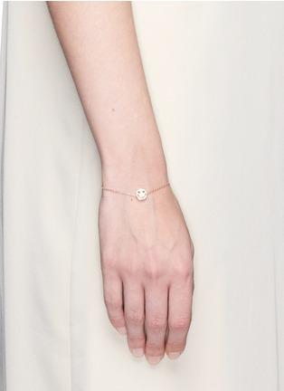 Ruifier-'Smitten' 18k rose gold chain charm bracelet