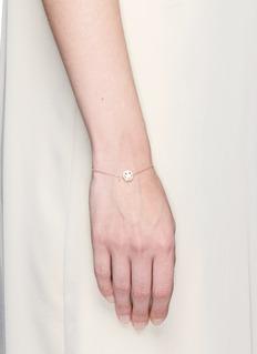 Ruifier'Smitten' 18k rose gold chain charm bracelet