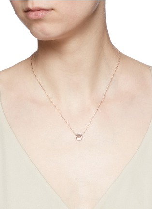 Detail View - Click To Enlarge - Ruifier - 'Smitten' 18k rose gold pendant necklace