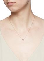 'Smitten' 18k rose gold pendant necklace