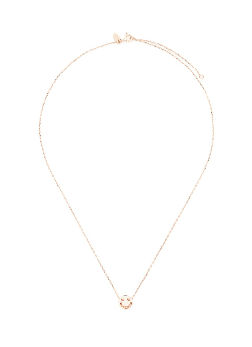 Smitten 18k rose gold pendant necklace by Ruifier