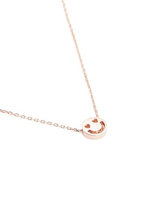 Figure View - Click To Enlarge - Ruifier - 'Smitten' 18k rose gold pendant necklace