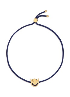 Ruifier 'Wicked' 18k yellow gold charm cord bracelet