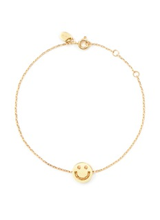 Ruifier 'Happy' 18k yellow gold chain charm bracelet