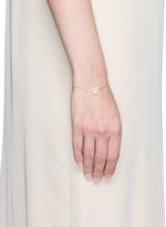 'Happy' 18k yellow gold chain charm bracelet