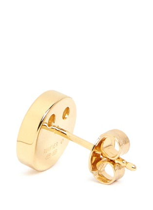 Detail View - Click To Enlarge - Ruifier - 'Happy' 18k yellow gold chain stud earrings