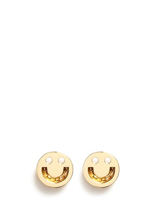 Main View - Click To Enlarge - Ruifier - 'Happy' 18k yellow gold chain stud earrings