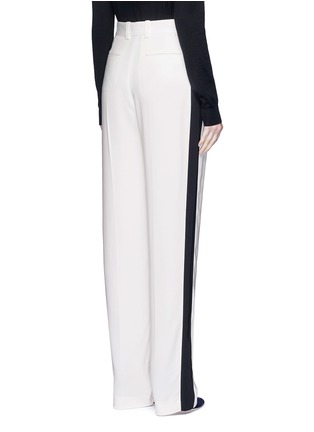 Back View - Click To Enlarge - Lanvin - Tuxedo stripe washed crepe techno pants