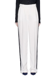 LANVIN Tuxedo stripe washed crepe techno pants