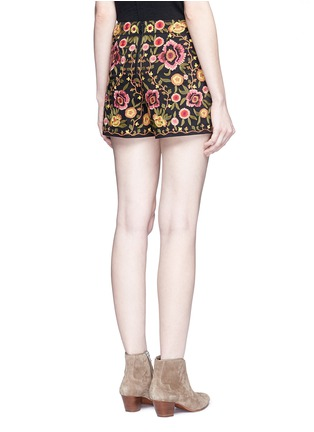 Back View - Click To Enlarge - alice + olivia - 'Marisa' floral embroidery shorts