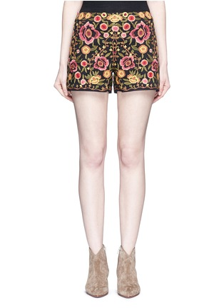 Main View - Click To Enlarge - alice + olivia - 'Marisa' floral embroidery shorts
