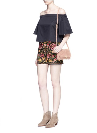 Figure View - Click To Enlarge - alice + olivia - 'Marisa' floral embroidery shorts