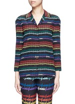 Rainbow print silk pyjama shirt