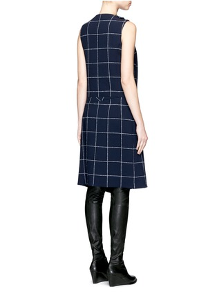 Back View - Click To Enlarge - Balenciaga - Textured check asymmetric dress