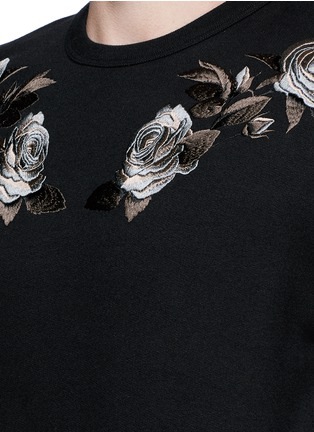 Detail View - Click To Enlarge - Alexander McQueen - Floral embroidery sweatshirt