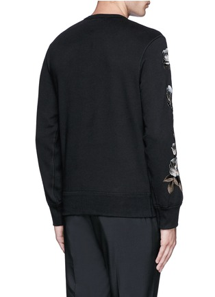 Back View - Click To Enlarge - Alexander McQueen - Floral embroidery sweatshirt