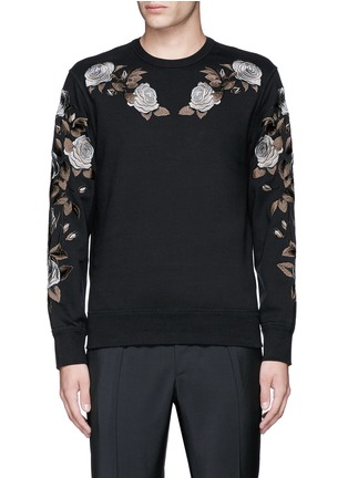 Main View - Click To Enlarge - Alexander McQueen - Floral embroidery sweatshirt