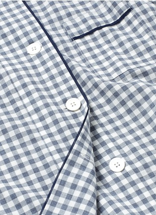 Detail View - Click To Enlarge - Araks - 'Kate' gingham check organic cotton pyjama top