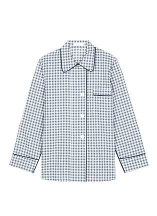 Main View - Click To Enlarge - Araks - 'Kate' gingham check organic cotton pyjama top