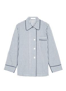 Araks'Kate' gingham check organic cotton pyjama top