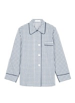'Kate' gingham check organic cotton pyjama top