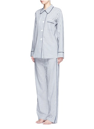 Figure View - Click To Enlarge - Araks - 'Kate' gingham check organic cotton pyjama top