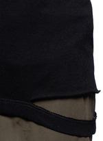 Cutoff hem cotton jersey T-shirt