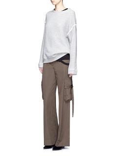 Helmut LangCutoff hem cotton jersey T-shirt