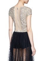 'Kelli' sequin embellished tulle cropped top