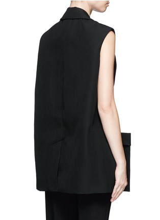 Back View - Click To Enlarge - Balenciaga - Virgin wool sleeveless jacket