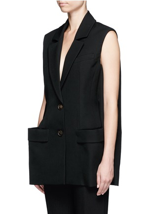 Front View - Click To Enlarge - Balenciaga - Virgin wool sleeveless jacket