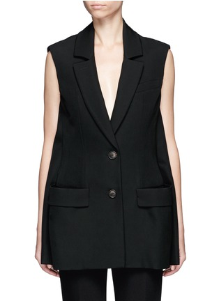 Main View - Click To Enlarge - Balenciaga - Virgin wool sleeveless jacket