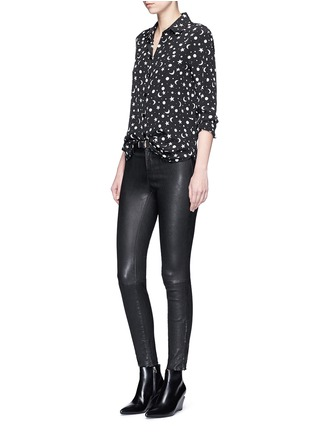 Figure View - Click To Enlarge - SAINT LAURENT - Moon and star print silk shirt