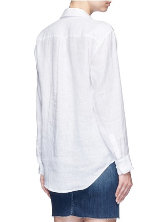 Back View - Click To Enlarge - Equipment - 'Knox' lace-up front linen shirt