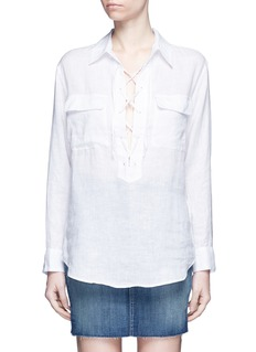 Equipment 'Knox' lace-up front linen shirt