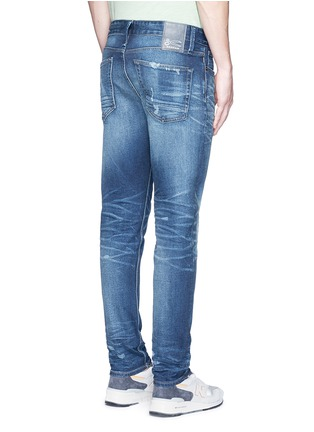 Back View - Click To Enlarge - Denham - 'Razor' distressed slim fit jeans
