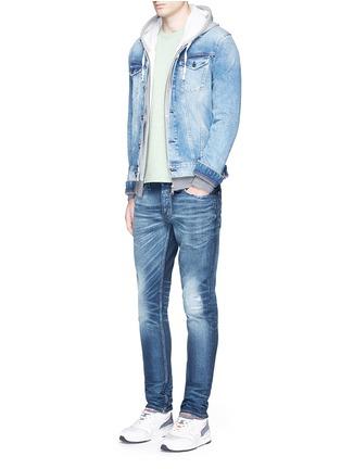 Denham-'Razor' distressed slim fit jeans
