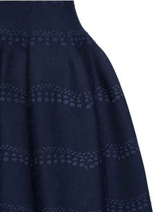 Detail View - Click To Enlarge - Alaïa - 'Guirlande' wavy dot jacquard knit dress