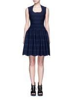 'Guirlande' wavy dot jacquard knit dress