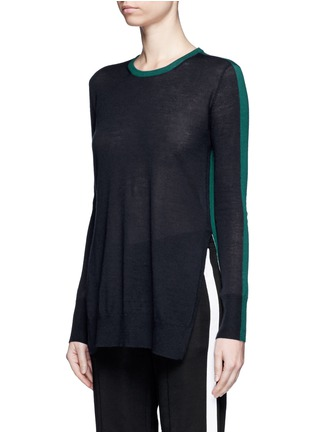 Front View - Click To Enlarge - rag & bone - 'Verity' contrast back long cashmere sweater