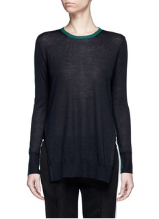rag & bone 'Verity' contrast back long cashmere sweater