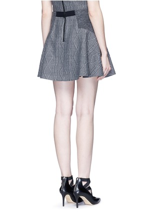 Back View - Click To Enlarge - alice + olivia - 'Elsie' knit effect flare skirt