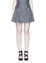'Elsie' knit effect flare skirt