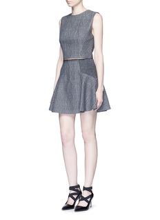 ALICE + OLIVIA'Elsie' knit effect flare skirt