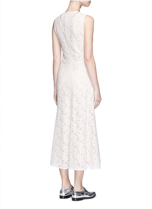 Back View - Click To Enlarge - Stella McCartney - 'Janelle' zip trim floral lace midi dress
