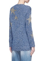 Metallic star intarsia mouliné knit sweater